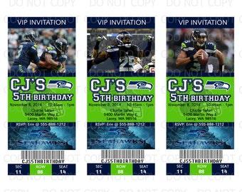 Printable DIY Football Theme Party Tickets Invitations