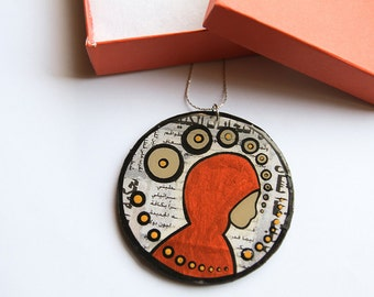 Modern, Bold & Female Vision Inspired Mixed Media Necklace