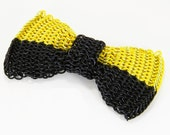 Chainmail Bow Tie - Two-Tone Half & Half in Yellow and Black
