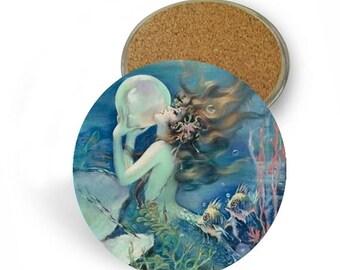 Mermaid Coaster Set - Drink Coasters