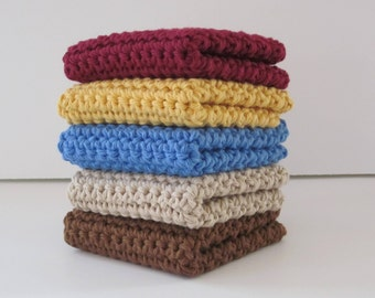 Crochet Dishcloths, Washcloths, Dish Cloth, Wash Cloth