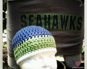 Seattle Seahawks Inspired Baby Beanie ~Ready to Ship~ FREE SHIPPING