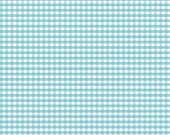 Basics Small Gingham Aqua by RBD Designers for Riley Blake, 1/2 yard