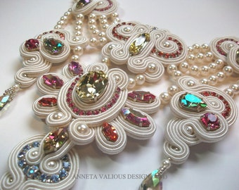Lakshmi's Gift - soutache necklace