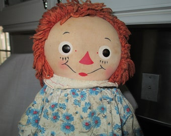 Georgene Novelties Raggedy Ann Doll c.1940's by Gatormom13 JUST REDUCED