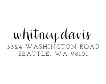 Custom Address Stamp 001
