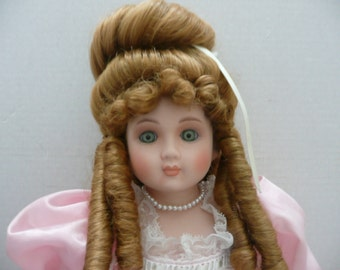 REDUCED - Betty Jane Carter Limited Edition Musical Porcelain Doll in circa 1869 Ball Gown
