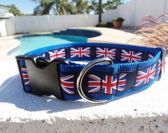 """Dog collar 1.5"""" wide Martingale collar or Quick Release buckle - choose ribbon from a 1"""" listing for 1.5"""" width - Pics are examples Only"""