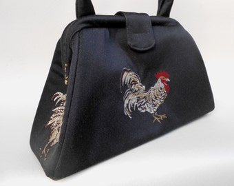 Black Rooster Handbag
