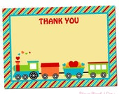 PRINTABLE Valentine's Train Party Thank You Cards
