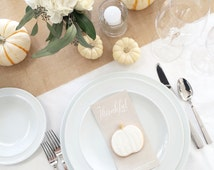 THANKSGIVING 2015 instant download // thanksgiving DIY // thanksgiving tablescape cards // I am thankful for...