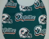 Side snap Miami Dolphins Themed Baby Bib-Waterproof