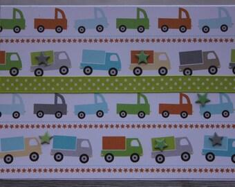 Birthday card-Trucks,Little Boy Birthday