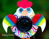 Lens Bling -Crazy Chevron Chicken with Squeaker - Ready to Ship