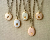Ethereal Dreamy Pastel Necklaces for Bridesmaids - Set of 5