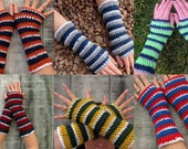 Go TEAM! Custom-Made extra soft striped gloves in your choice of colors