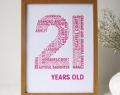 A3 Personalised Special Birthday Print - Personalized Special Birthday Print A3 - Unique Birthday Print