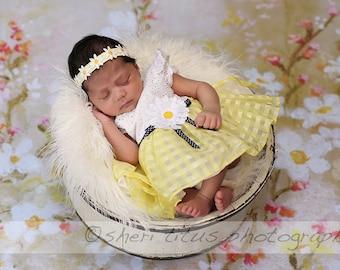 Yellow Daisy Headband - Baby Daisy Headband - Newborn Daisy Headband - White Daisy Headband