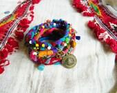 Bohemian Stacking Bracelet,  Boho Cuff, Gypsy Bangles, Hippie Jewelry,