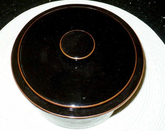 Ceramic, Ovenware, Casserole, Kitchen Dining, Bean Pot,  Marked Tokaido with Wave Design, Japan