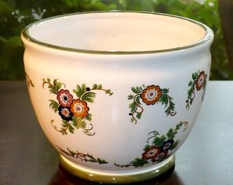 Capodimonte,N Italy, Ceramic Planter, Flower Pot, planter pot, Planters, Pots, Vases, Vessels,  Vintage Pots, Italian pot, Cache pot,