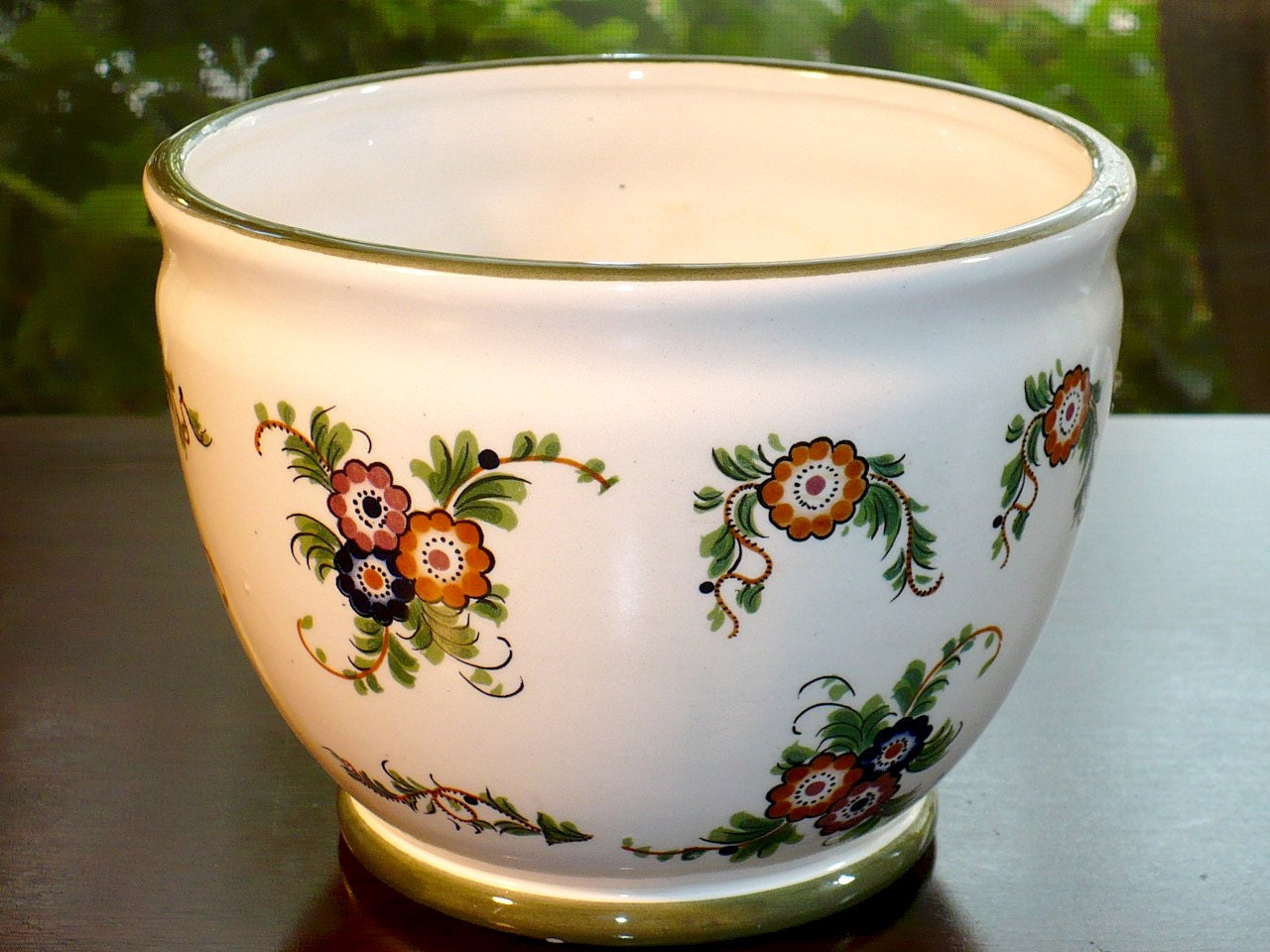 Capodimonten Italy Ceramic Planter Flower Pot Planter Pot