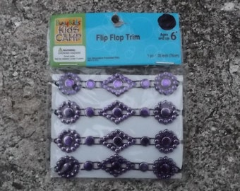 Purple Flip Flops Trim