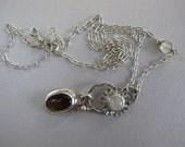 Drops of Jupiter Pendant Necklace - Moonstone Flower Pendant - Golden Obsidian Charm Style Pendant Necklace