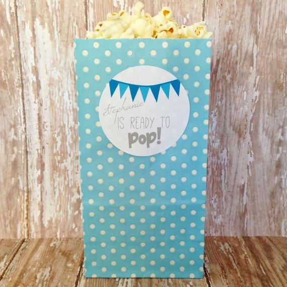 12 custom ready to pop blue popcorn bags ready to pop