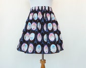Cat Skirt Paris Eiffel Tower Frames Cats Faces Kitten Skirt Lolita Elastic Waistband Kawaii Cute