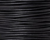 Leather-1.5mm Round Cord-Soft-Natural Black-50 Meter Spool