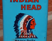Vintage Indian Head One Gallon Advertising Can. It has never been opened. NOS Graphics are strong and crisp.