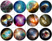 Space Magnets, Space Pins, Galaxy Magnets, Nebula Magnets, Science Gift, Astronomy Magnets, Astronomy Gift, Gift for Him, Galaxy Pins
