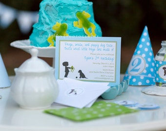 Frogs Snails and Puppy Dog Tails Invitations