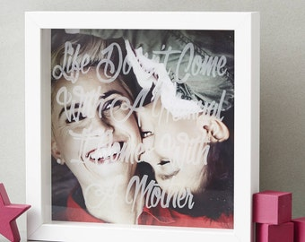 Personalised Etched Framed Print For Mum