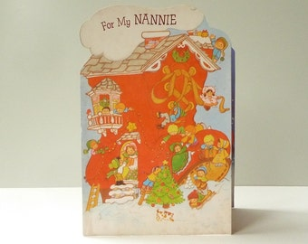 For My Nannie - Original and *unused* 70s/80s CHRISTMAS CARD