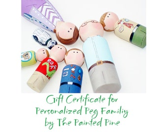 Gift Certificate for Personalized Peg Family