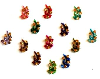 Bindi Jewels, Bindis For Sale, Indie Fashion, Temporary Bridal Makeup, Ready To Use