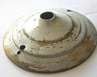 Vintage Lamp Bobeche w Dent - Assemblage Supply