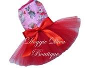 Dog Dress - Valentine's - Valentine - Puppy Love - Dog Tutu Dress XXS, XS, Small or Medium