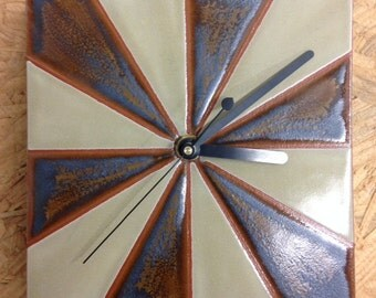Earthenware Pottery Clock