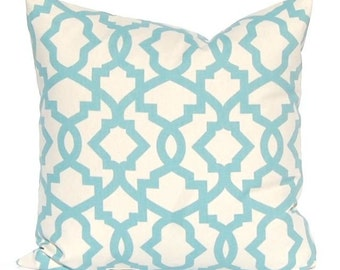 Village Blue Pillow Covers, Village Blue Trellis, Decorative Pillow Covers, Blue Cushion Covers, Accent Pillows, Toss Pillow, Throw Pillow