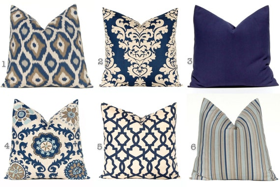 Decorative Throw Pillow Cover One 22 X 22 Navy By