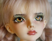 BJD eyes Doll eyes Hand made available in 12141618202224mm Orange Blossom made to order