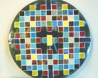 Abstract Glass Tile Mosaic Art Glass On Glass Wall Mirror Wall Decor Wall Hanging Home Decor