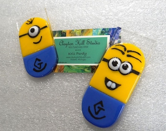 Minion Fused Glass Ornament