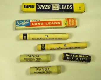 Vintage Pencil Lead Collection - Vintage Empire Scripto, Panda Eberhard Faber