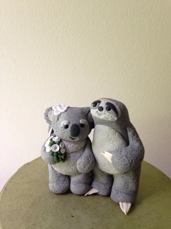 Sloth And Koala Love Wedding Cake Topper By Theaircastle