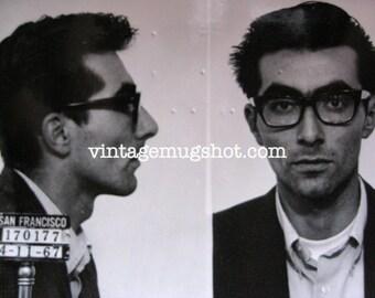 1967 San Francisco  Police Department Criminal MUG SHOT Black Glasses