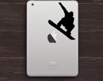 Snowboarder Vinyl iPad Decal BAS-0186